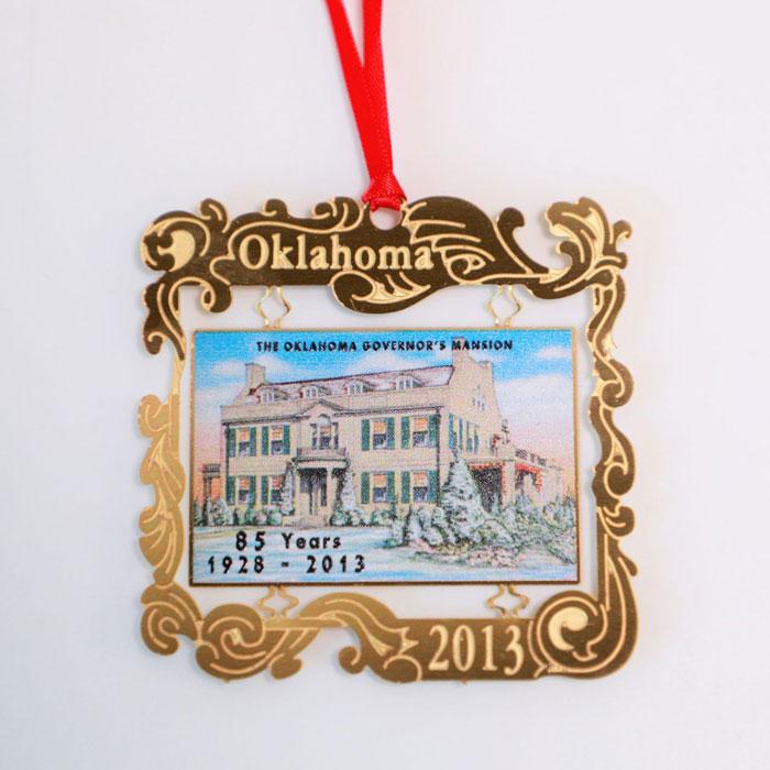 Oklahoma Holiday Ornament - 2013
