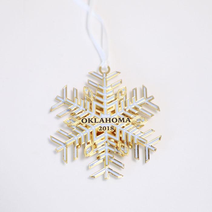 Oklahoma Holiday Ornament - 2018