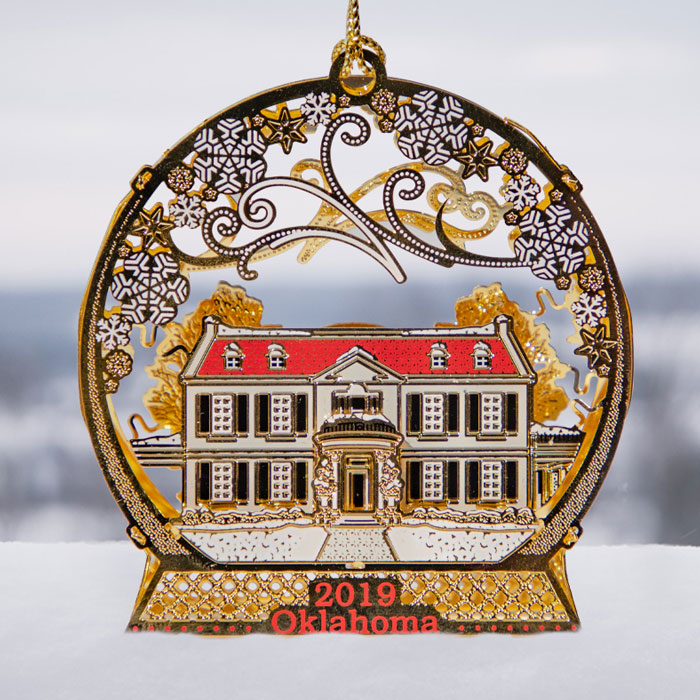 Oklahoma Governors Mansion Christmas Orniments For 2020 Oklahoma Holiday Ornament – 2019 – Friends of the Mansion